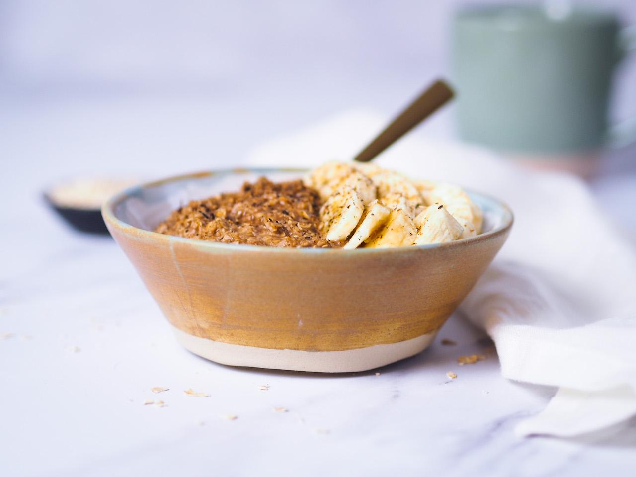 Schoko – Porridge mit Banane
