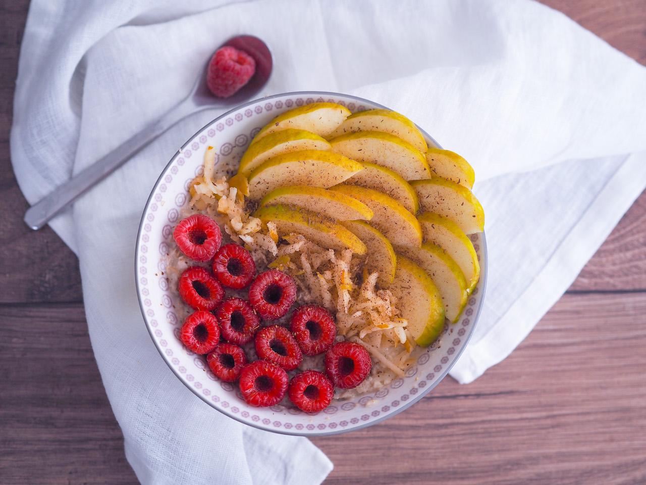 Apfel – Zimt Porridge