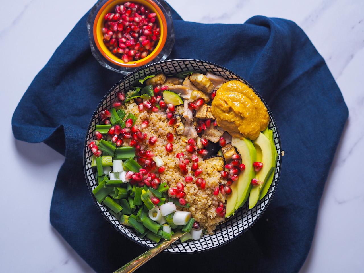 Lauwarmer Quinoa Salat