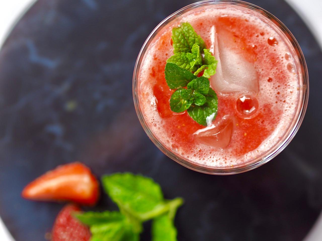 Erdbeer Spritz – Alkoholfrei