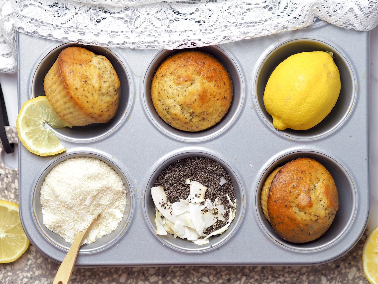 Zitronen – Mohn Muffins
