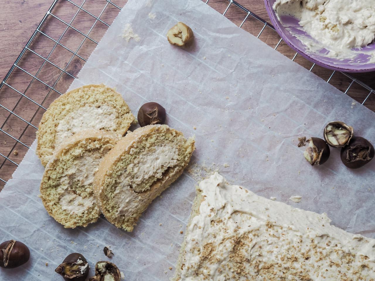 Maroni – Biskuitroulade